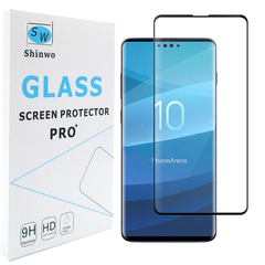 [1-Pack] Shinwo Samsung Galaxy S10 Lite [0.26mm 4D Full Coverage] [Tempered Glass Screen Cover] Black for Samsung Galaxy S10 Lite 2019