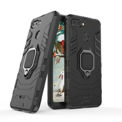 Hot Sale Xiaomi Redmi 6 Case Rugged Armor [Drop-protection] with Car Magnetic Ring Holder Black for Xiaomi Redmi 6