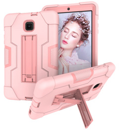 Galaxy Tab A 10.5 Tab S4 10.5 Tab A 8.0 2018 T387 Stand Cover Shockproof Full-body Protective Cases Pink for Samsung Galaxy Tab A 10.5 T590 T595