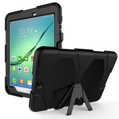 Samsung Galaxy A 7.0 T280 T285 Tab 4 7.0inch Silicone PC shockproof Leather Case with Kickstand black for Samsung Galaxy Tab A 7.0inch T280 T285