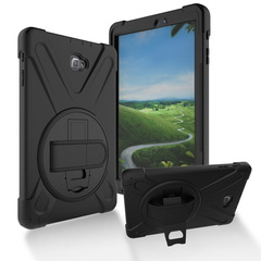 Galaxy Tab A 10.1 2016 Tab A 10.1 P585 P580 Silicone PC Case Cover Shockproof Rotating Bracket Black for Samsung Galaxy Tab A 10.1'' (2016) T580 T585