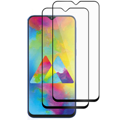 [2-Pack] Samsung Galaxy M20 Galaxy M30 [Full Glue Full Cover Tempered Glass Screen Protector] Black for Samsung Galaxy M20