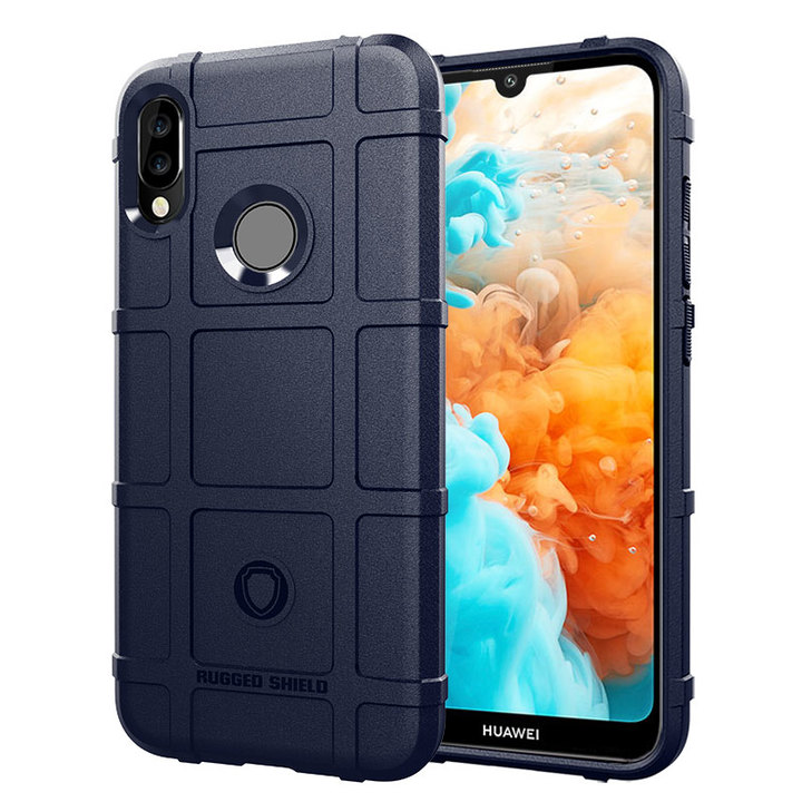 Ready Stock Cover for Huawei Y6 2019 / Y6 Prime 2019 Rugged Shield Silicone Shock-Proof Phone Case Blue for Huawei Y6 2019 / Y6 Prime 2019