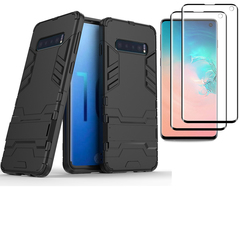 Shinwo 1 x Samsung Galaxy S10e Phone Case + 2 x S10e [Full Screen PET Screen Protector] Red for Samsung Galaxy S10e (2019)
