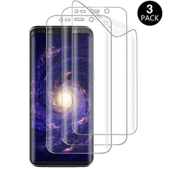 [3 Pack] Samsung Galaxy S8 S8 Plus [3D Full Coverage] HD Clear Invisible PET Screen Protector Clear White for Samsung Galaxy S8