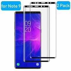 (2-Pack) Samsung Galaxy Note 9 [3D Curved Full Screen Coverage] Tempered Glass Screen Protector Black for Samsung Galaxy Note 9