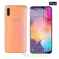 [3-Pack]-Shinwo Samsung Galaxy A50 Smartphone [9H Tempered Glass] Screen Protector Clear White for Samsung Galaxy A50 (2019)