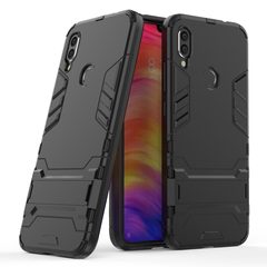 Ready Stock Redmi Note 7 / Note 7 Pro Phone Case Rugged Armor [Drop-protection] with Kickstand black for Xiaomi Redmi Note 7 / Note 7 Pro