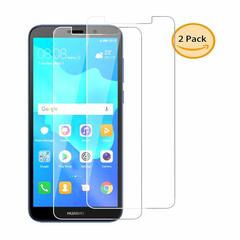 Shinwo Huawei Y5 2018 / Y5 Prime 2018 [Bubble Free] [9H Tempered Glass] Screen Protector clear white-2 Pack for  Huawei Y5 2018 / Y5 Prime 2018