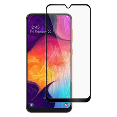 [1-PACK] For Samsung Galaxy A50 A30 A20  [Tempered Glass] [Full Screen Glue Cover] Screen Protector Black for Samsung Galaxy A30