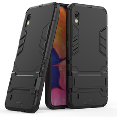 Shinwo Back Cover for Samsung Galaxy A10 Rugged Armor [Drop-protection] with Kickstand black for  Samsung Galaxy A10