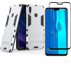 1x Huawei Y9 2019 / Enjoy 9 Plus Phone Case + [Full Glue Cover Tempered Glass] Screen Protectorx blue for Huawei Y9 2019 / Enjoy 9 Plus