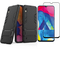 1x Samsung Galaxy A10 Case + [Full Glue Full Cover Tempered Glass] Screen Protector black for Samsung Galaxy A10