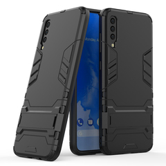 Ready Stock Samsung Galaxy A70 Phone Case Rugged Armor [Drop-protection] with Kickstand black for Samsung Galaxy A70