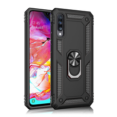 Phone Case for Samsung Galaxy A70 A50 A30 A20 [Drop-protection] with Car Magnetic Ring Holder black for Samsung Galaxy A50