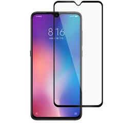 [1-PACK] For Xiaomi MI 9 Mi 9 SE [Full Screen Glue Cover] [Tempered Glass] Screen Protector Black for Xiaomi MI 9
