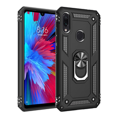 Phone Case for Xiaomi Redmi Note 7 Pro [Drop-protection] with Car Magnetic Ring Holder black for Xiaomi Redmi Note 7 Pro