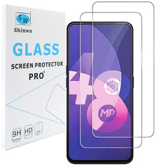 [2-Pack]-Shinwo OPPO F11 Pro Smartphone [Tempered Glass] Screen Protector Clear White for OPPO F11 Pro