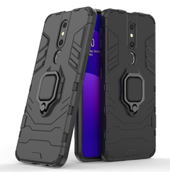 Phone Case for OPPO F11 Pro [Drop-protection] with Car Magnetic Ring Holder black for OPPO F11 Pro