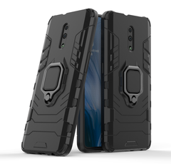 Phone Case for OPPO Reno 6.4inch [Drop-protection] with Car Magnetic Ring Holder black for OPPO Reno 6.4inch
