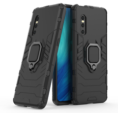 Phone Case for VIVO X27 [Drop-protection] with Car Magnetic Ring Holder black for VIVO X27