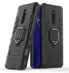 Phone Case for VIVO X27 Pro [Drop-protection] with Car Magnetic Ring Holder black for VIVO X27 Pro