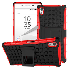 For Sony Xperia Z5 Phone Case,Military Armor Drop Tested [Heavy Duty] Hybrid Case with Kickstand Colour1 for Sony Xperia Z5