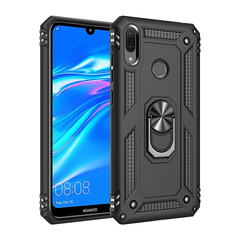Phone Case for Huawei Y9 2019 Rugged Armor [Drop-protection] with Car Magnetic Ring Holder black for Huawei Y9 2019