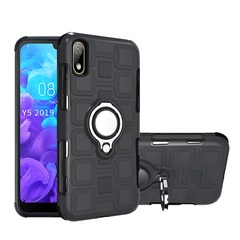 Rugged Armor Phone Case for Huawei Y5 2019 Huawei Honor 8S with Car Magnetic Ring Holder black for Huawei Y5 2019