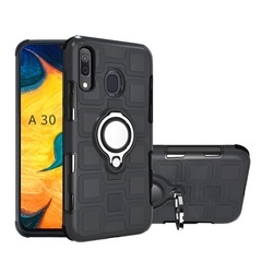 Rugged Armor Phone Case for Samsung Galaxy A20 Galaxy A30 with Car Magnetic Ring Holder black for Samsung Galaxy A20