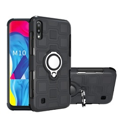 Rugged Armor Phone Case for Samsung Galaxy M10 Galaxy A10 with Car Magnetic Ring Holder black for Samsung Galaxy M10