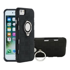 Phone Case for Apple iPhone 6 iphone 7 8 iphone 6 Plus 7 Plus with Car Magnetic Ring Holder Black for iPhone 6 / iPhone 6s 4.7''