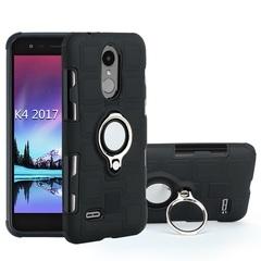 Shinwo - Phone Case for LG K4 2017 with Car Magnetic Ring Holder black for LG K4 2017