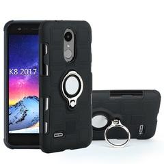 Shinwo - Phone Case for LG K8 2017 with Car Magnetic Ring Holder black for LG K8 2017