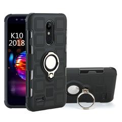 Phone Case for LG K10 2018 LG K30 LG K11 LG K11 Plus with Car Magnetic Ring Holder black for LG K10 2018
