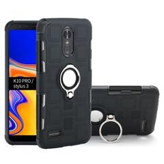 Phone Case for LG K10 Pro LG Stylus 3 with Car Magnetic Ring Holder black for LG K10 Pro