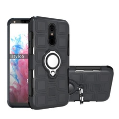 Shinwo - Phone Case for LG G Stylo 5 with Car Magnetic Ring Holder black for LG G Stylo 5
