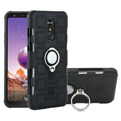 Shinwo - Phone Case for LG Q Stylo 4 LG Q Stylus with Car Magnetic Ring Holder black for LG Q Stylo 4