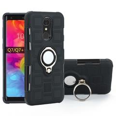 Shinwo - Phone Case for LG Q7 LG Q7 Plus LG Q7 Alpha with Car Magnetic Ring Holder black for LG Q7