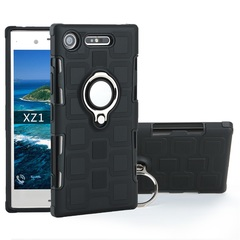 Shinwo - Phone Case for Sony Xperia L1 / E6 Xperia XZ1 with Car Magnetic Ring Holder black for Sony Xperia L1 / E6