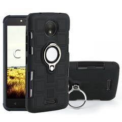 Shinwo - Phone Case for Motorola Moto C Moto C Plus with Car Magnetic Ring Holder black for Motorola Moto C
