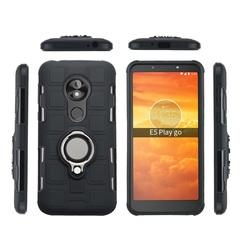 Shinwo - Phone Case for Motorola Moto E5 Play Go with Car Magnetic Ring Holder black for Motorola Moto E5 Play Go