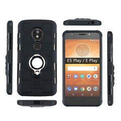 Shinwo - Phone Case for Motorola Moto E5 Play Moto E Play with Car Magnetic Ring Holder black for Motorola Moto E5 Play