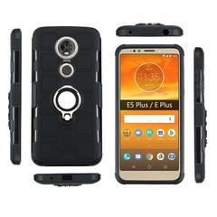 Shinwo - Phone Case for Motorola Moto E5 Plus Moto E Plus with Car Magnetic Ring Holder black for Motorola Moto E5 Plus