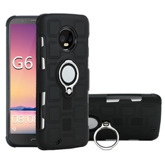 Shinwo - Phone Case for Motorola Moto G6 Moto G6 Plus with Car Magnetic Ring Holder black for Motorola Moto G6