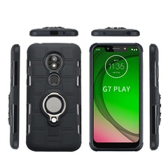 Shinwo - Phone Case for Motorola Moto G7 Play with Car Magnetic Ring Holder black for Motorola Moto G7 Play