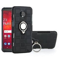 Shinwo - Phone Case for Motorola Moto Z3 Play with Car Magnetic Ring Holder black for Motorola Moto Z3 Play