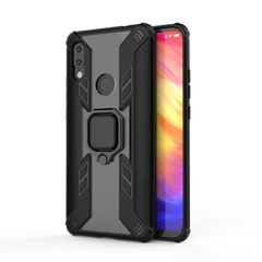 Rugged Armor Phone Case for Xiaomi Redmi Note 7 / Note 7 Pro with Car Magnetic Ring Holder black for Xiaomi Redmi Note 7 / Note 7 Pro