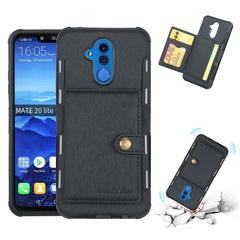 Shinwo - Huawei Mate 20 Lite TPU frame + PU Leather Wallet Back Cover black for Huawei Mate 20 Lite