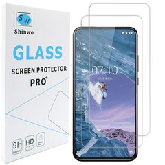 Shinwo [2-Pack] Nokia X71 Nokia 6.2 [HD Clear 9H Tempered Glass] Screen Protector clear white for Nokia X71
